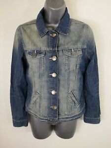 WOMENS-OASIS-JEANS-BLUE-CLASSIC-DENIM-BUTTON-UP-JACKET-CASUAL-COAT-UK-12-MEDIUM