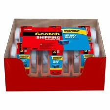 Scotch Heavy Duty Shipping Packaging Tape Dispensers 6pack Clear 188x 222 Yd