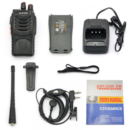 Cable 6Pcs Baofeng BF-888S 400-470MHz 5W CTCSS Two-way Ham Radio Walkie Talkie