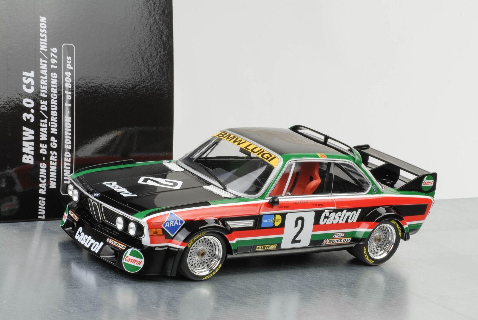 1976 BMW 3.0 CSL taille 2 luigi Racing  2 Winner GP Nurburgring 1 18 Minichamps