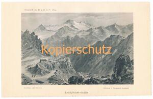 018 Heubner Lenkjöchlhütte Rifugio Giogo Lungo Alpes Lumière Pression 1894!!!-afficher Le Titre D'origine
