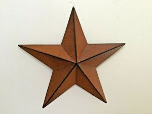 Primitive-Country-Home-Decor-Tin-Barn-Star-Rust-3-5-034-decor-5-5-034-8-034-or-12-034