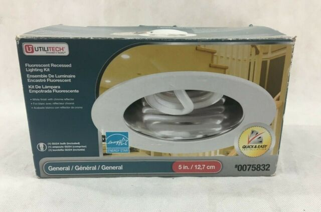 Utilitech Recessed Lighting Kit White