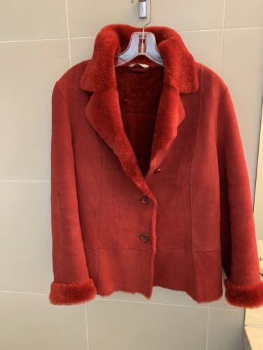 Autunno red shearling jacket