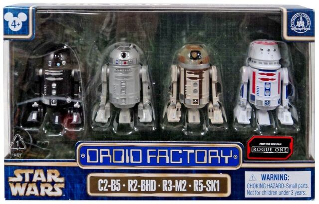 Star Wars Droid Factory Action Figure 4-Pack [C2-B5, R2-BHD, R3-M2 & R5-SK1]