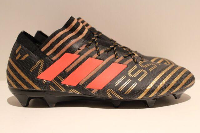 f82682d4b adidas Nemeziz Messi 17.1 Firm FG Soccer Cleat Black Gold Red Size 13 BB6351