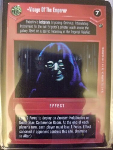 Star Wars CCG BB Limited Dagobah Visage of the Emperor SWCCG NON-MINT