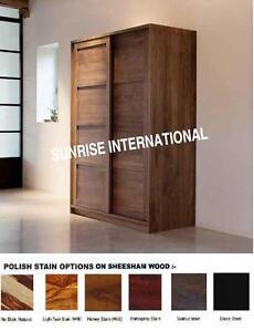 Wooden Sliding  2 door Cupboard / Wardrobe / Cabinet (sliding door)  !!