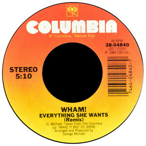Wham! Everything She Wants [VG+/VG] 1984 1st PRESS 38-04840 - 70100