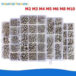 M2-M3-M4-M5-M6-M8-M10-Stainless-Steel-Hex-Socket-Head-Screw-Bolt-Nut-Assortment