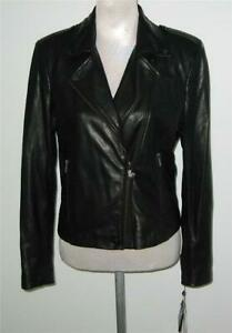 NWT-Badgley-Mischka-Leather-BIKER-MOTORCYCLE-JACKET-Women-Black-MSRP-395