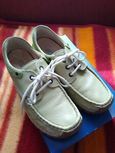 Details zu Wolky. Damen Comfort Schuhe Gr 39. Echt Leder. Apfelgrün. Top Zustand.