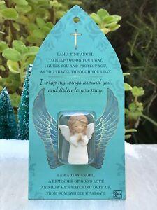 Miniature-FAIRY-GARDEN-Terrarium-Micro-Mini-1-034-H-Praying-Angel-Figurine-Token