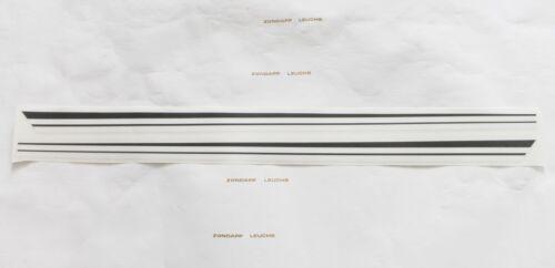 Kreidler Florett K54 RMC S 5 Sitzbank Streifen Aufkleber Schwarz Weiß