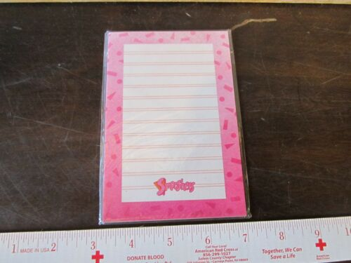 Vintage Little Fisher Price toy Smooshees Smooshies Note Pad Paper NEW pink