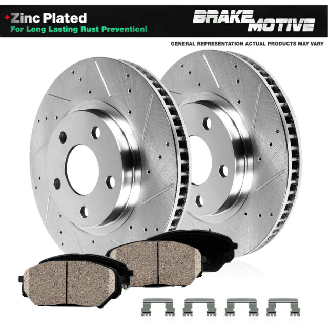 For Volkswagen Passat Front Rear  Drill Slot Brake Rotors+Ceramic Brake Pads