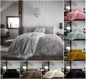 Nuevo-Luxuries-abrazo-amp-Cenido-Piel-esponjosa-extra-Polar-Funda-De-Edredon-Funda-De-Almohada-Cama
