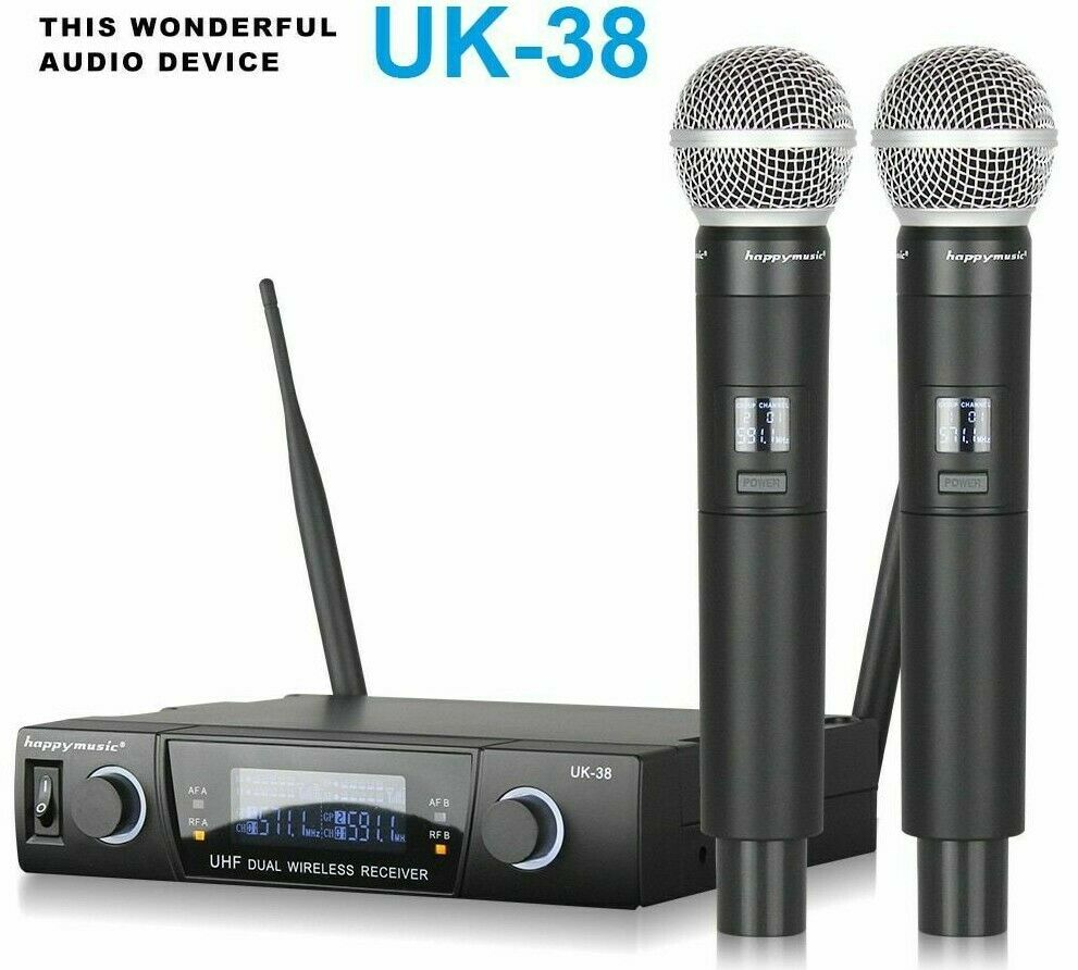 Wireless Microphone System Professional Dual For Stage Performances Karaoke Mic