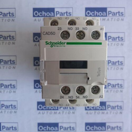 SCHNEIDER ELECTRIC CAD50F7 TESYS D RELAY 5NO 690V 110V AC STANDARD COIL