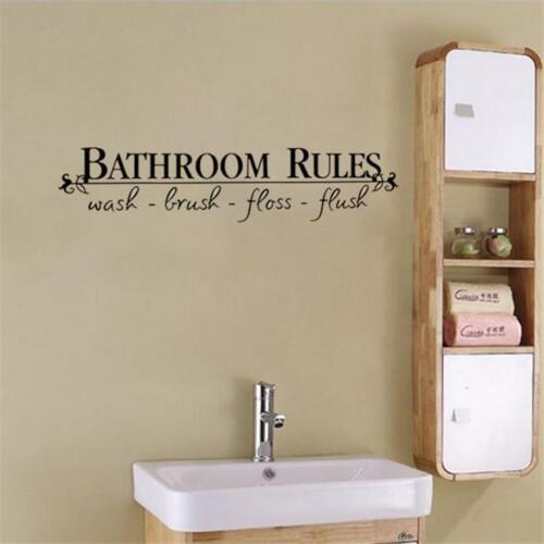 Salle de bain Règles Citer Mur Autocollants maman Tips for Kids Wall Decal Home Decor ma