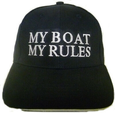 Captains Cap für Sea Ray   my boat my rules Boot Motorboot Segelboot Boat Yacht