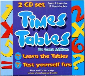 Times-Tables-CD-Times-Tables-booklet-Songs-amp-Games-2-CD-SET-NEW-amp-WRAPPED