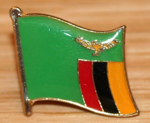 ZAMBIA Country Metal Flag Lapel Pin Badge