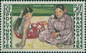 French-Polynesia-1958-Sc-C25-SG14-50f-Women-of-Tahiti-MNH