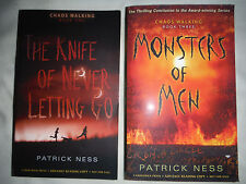 The Knife of Never Letting Go & MONSTERS OF MEN Patrick Ness ADVANCE REVIEW COPY