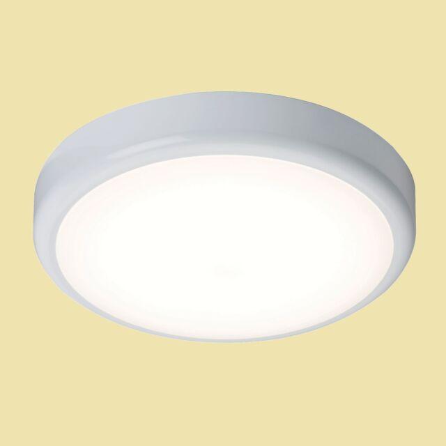 Emergency LED Bulkhead Flush Ceiling/Wall Light c/w motion sensor 14W LED IP44