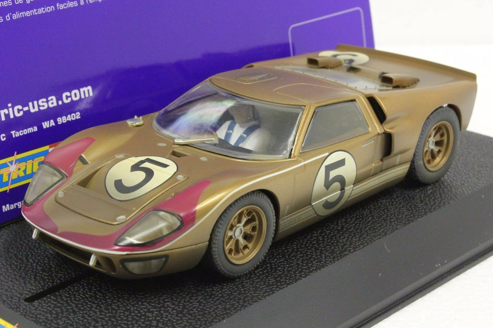 Scalextric C2465 Goodwood Ford GT40 Con Luces Nuevo 1 32 Slot Coche