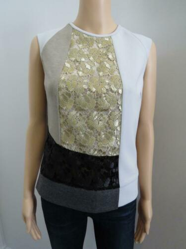 Derek Lam Multicolored Mixed Media/Lace Panel Slee