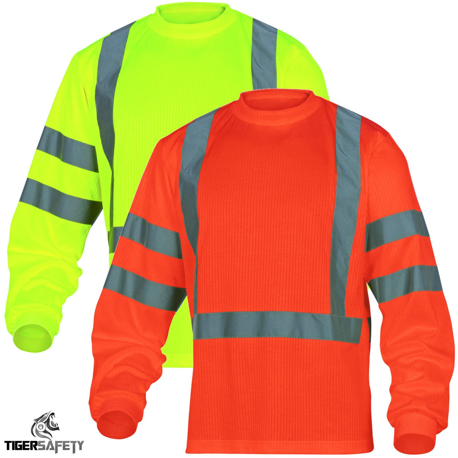 Delta Plus Panoply Steuerruder hohe Sichtbarkeit Pulli Signalfarbe T-Shirt hoch