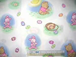 Winnie-the-Pooh-Tigger-Eeyore-Piglet-cotton-quilting-fabric-Choose-design-size