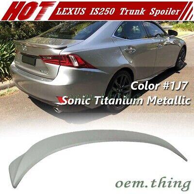 Painted For Lexus IS250 IS200t F Type Rear Trunk Spoiler 4D Sedan ABS 2014-2016