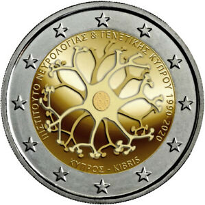 2-euro-Chypre-2020-30-ans-Institut-commemorative-UNC-Cyprus-Zypern-Chipre-Cipro