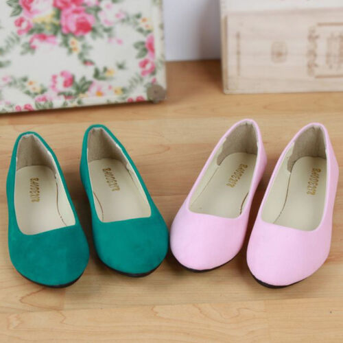 Womens Suede Flats Summer Ballet Soft Ballerian Loafers Dolly Pumps Shoes Size