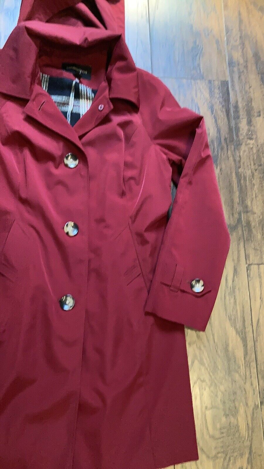 London Fog Red Trench Coat - image 2