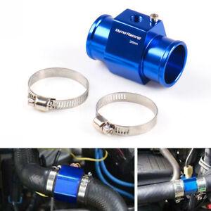 36mm Water Temp Temperature Joint Pipe Sensor Gauge Radiator Hose Adapter Blu