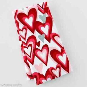 Love-Red-Pink-Heart-White-Kitchen-Hand-Towel-Decor