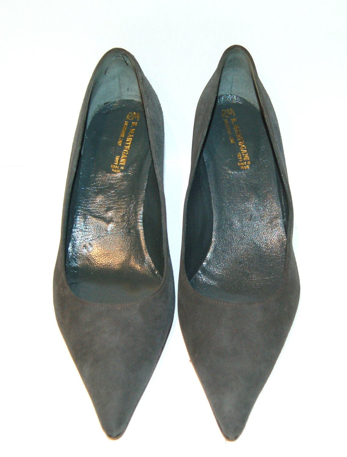 39½ eu - - - WOMAN POINTED PUMP - grau SUEDE - LEATHER SOLE - HEEL 5,5cm 6fa59c
