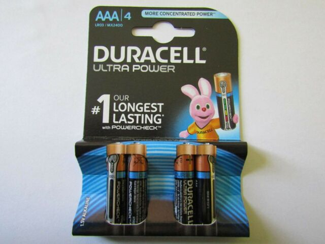 4x AAA Ultra Power Alkaline Battery duracell AR2067