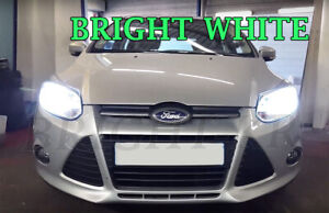 2x-Ford-Foucs-MK3-SUPER-XENON-6000K-Blanc-phare-Lampe-Ampoules-Canbus
