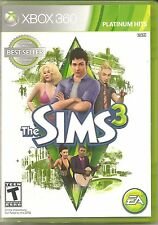 THE SIMS 3 (PLATINUM HITS)  (XBOX 360, 2010) (1750)       FREE SHIPPING USA