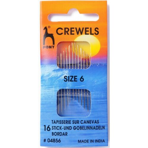 Pony crewels Oro Ojo Agujas 12-16 Pack Craft Coser Tejer