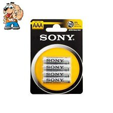 4X BATTERIE PILE MINISTILO SONY AAA 1,5V  ULTRA DURATA R03 ZINCO CARBONE POWER
