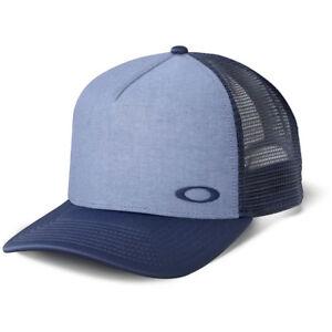 04d14cef64a Oakley NEW Mx Flip Oxford Navy OSFM Adult Adjustable Trucker Cap Hat ...