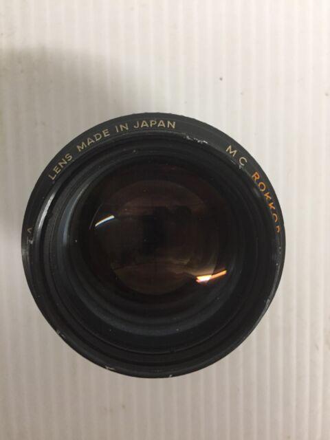 Minolta MC Rokkor-X 58mm f1.2 Japan 2740255 . nice