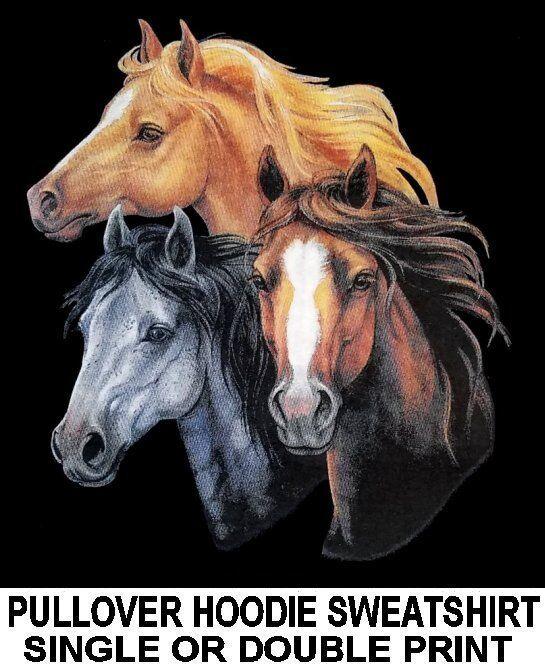 PALOMINO THOROUGHBROT QUARTERHORSE MORGAN grau MUSTANG HORSE HOODIE SWEATSHIRT