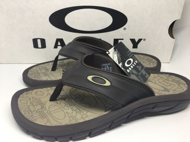 39ffd672e6d9 Oakley SuperCoil 4 Slide Men s Sandals 101330DM-851 Size 7 BROWN NEW IN Box